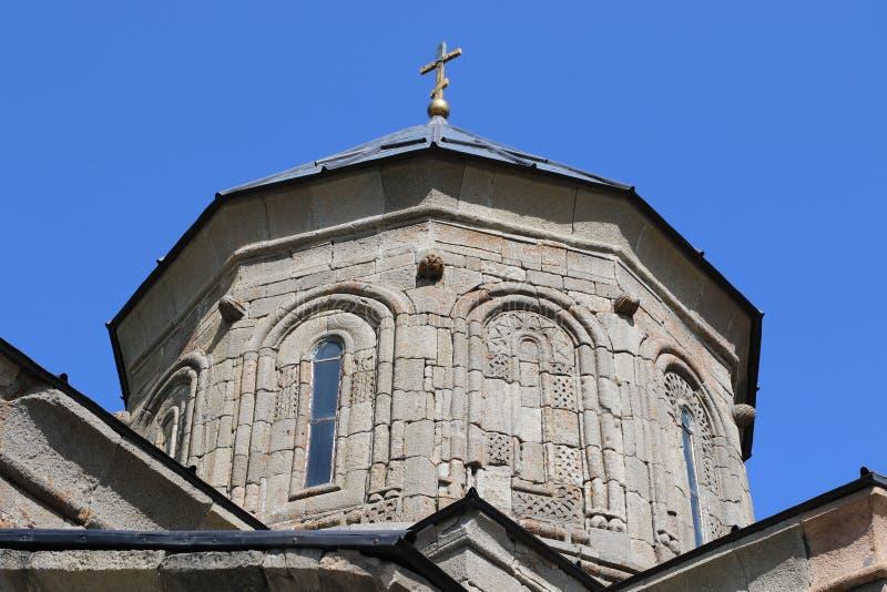 Igreja cristã velha de Stepantsminda em Geórgia fotos de stock