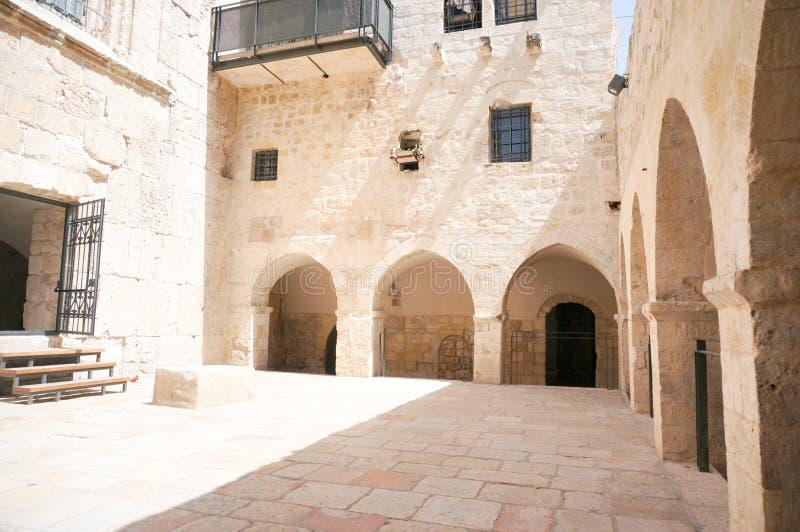 Igreja da última ceia no Jerusalém fotos de stock