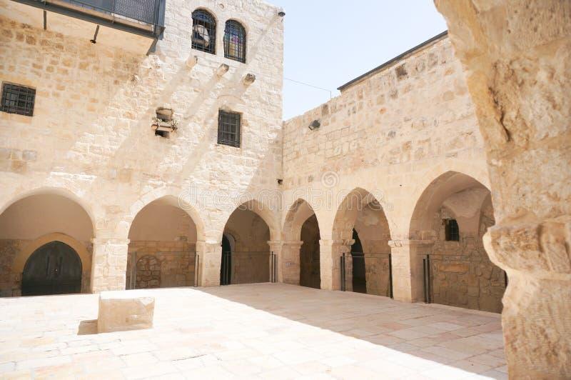 Igreja da última ceia no Jerusalém foto de stock
