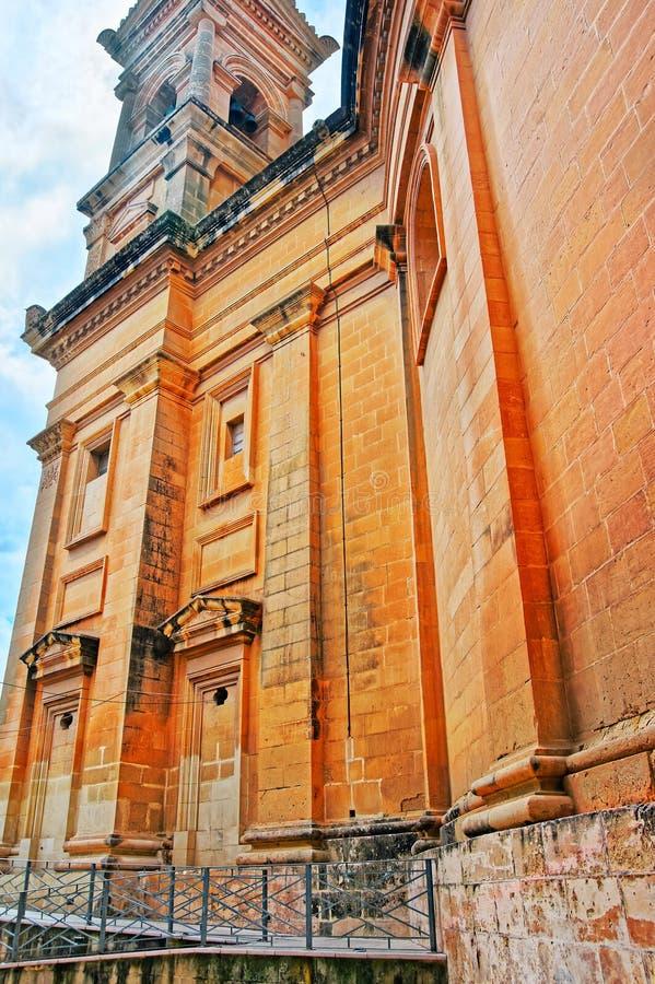 Igreja da abóbada da rotunda em Mosta fotos de stock