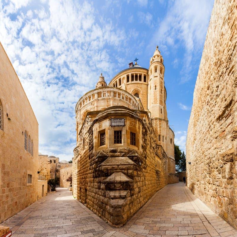 Igreja da abadia de Dormition Cidade velha jerusalem israel imagem de stock royalty free