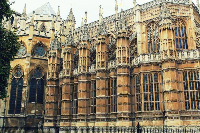 A igreja da abadia de Westminster em Londres, Reino Unido fotografia de stock