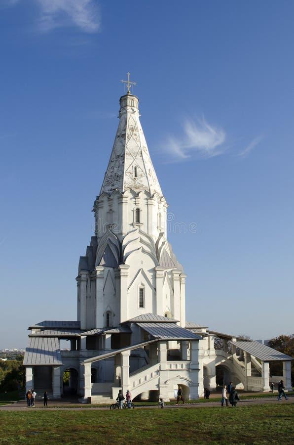 Igreja da ascensão em uma propriedade real anterior Kolomenskoye Moscou imagem de stock