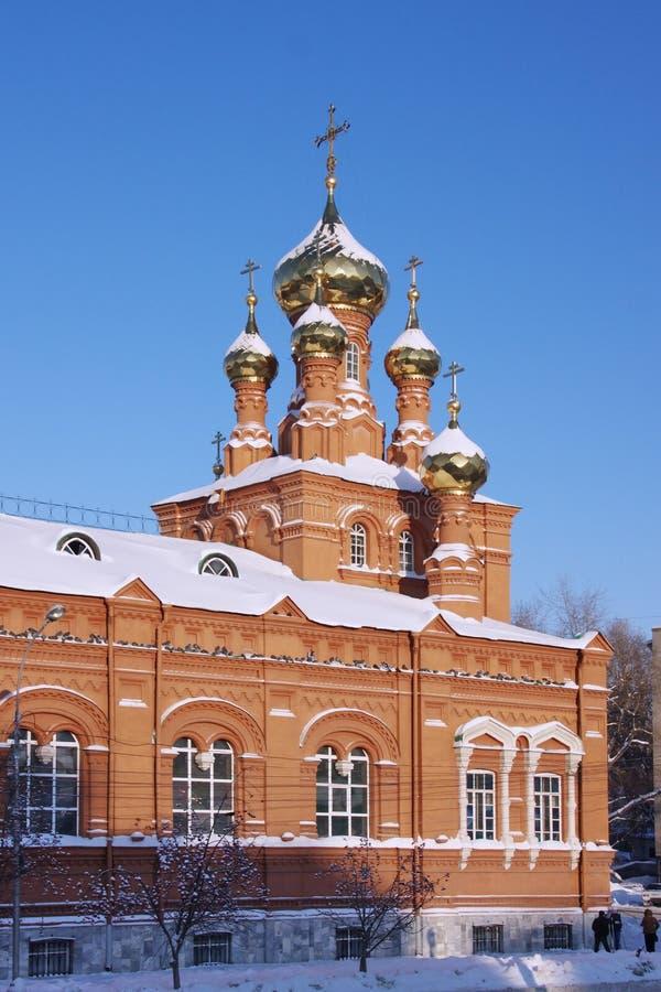 Igreja da ascensão na cidade do Perm fotografia de stock