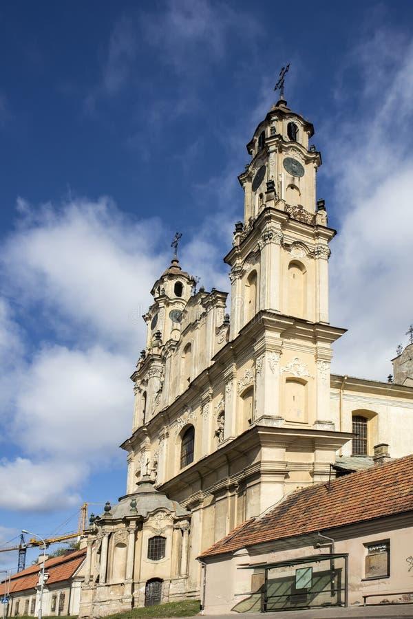 Igreja da ascens?o, Roman Catholic Church em Vilnius, Litu?nia foto de stock royalty free