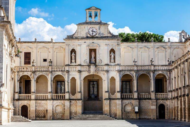 Igreja da basílica da cruz santamente Lecce, Itália fotografia de stock