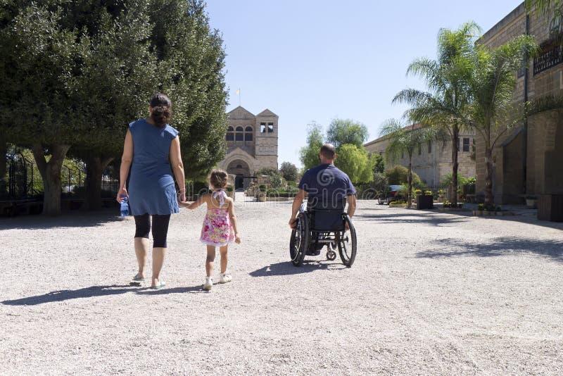 Igreja da cadeira de rodas fotografia de stock