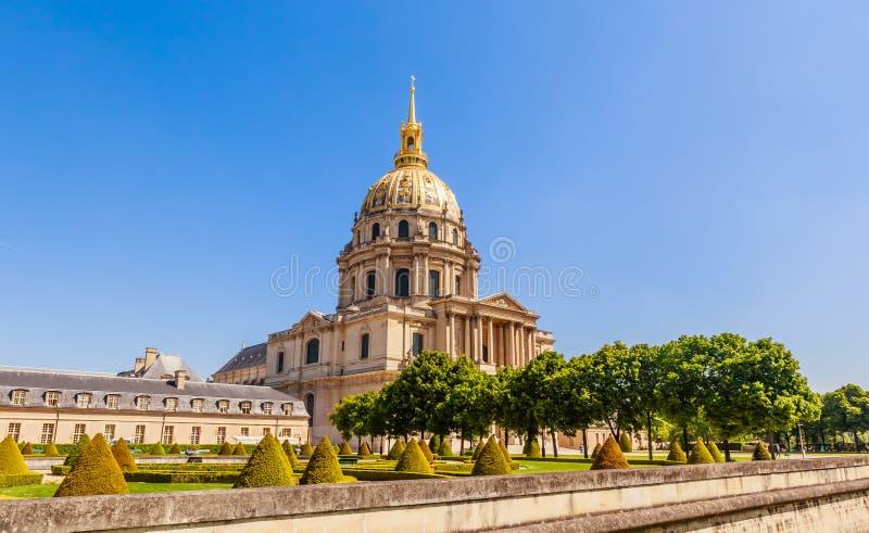 A igreja da casa de desabilitou, Paris fotografia de stock