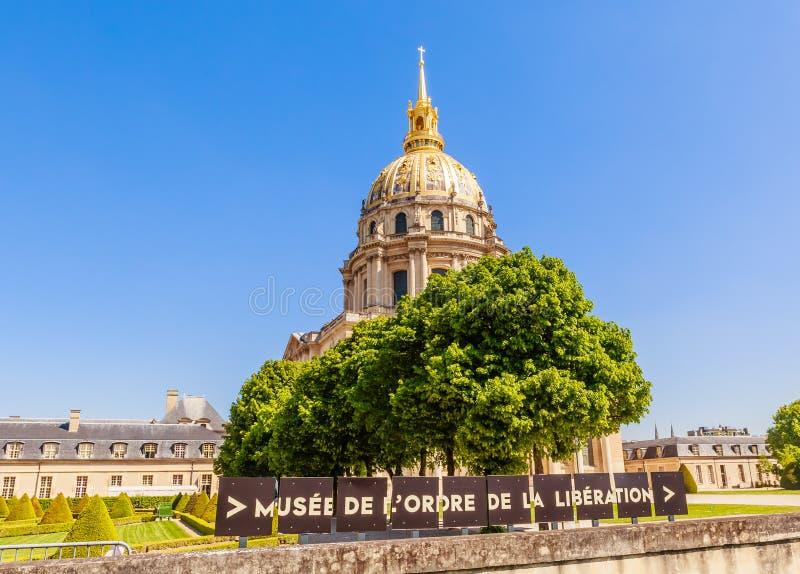 A igreja da casa de desabilitou, Paris fotos de stock
