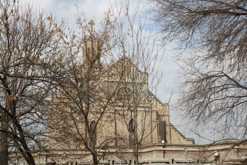 Igreja da catedral de Catolic em Tashkent, Usbequistão foto de stock royalty free