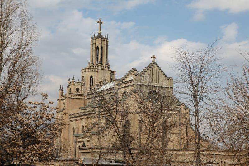 Igreja da catedral de Catolic em Tashkent, Usbequistão fotos de stock