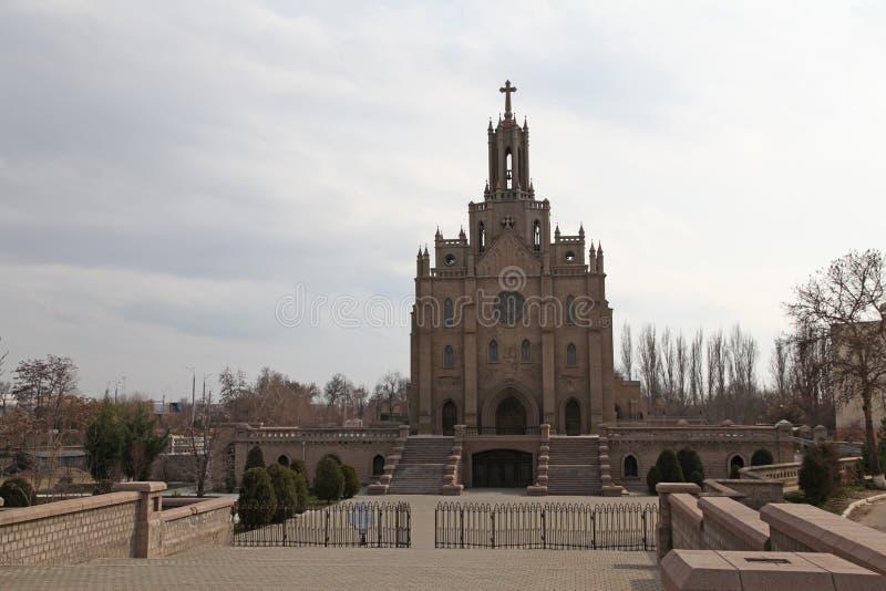 Igreja da catedral de Catolic em Tashkent, Usbequistão imagens de stock