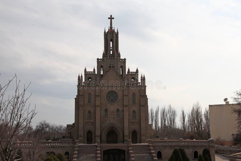 Igreja da catedral de Catolic em Tashkent, Usbequistão fotografia de stock