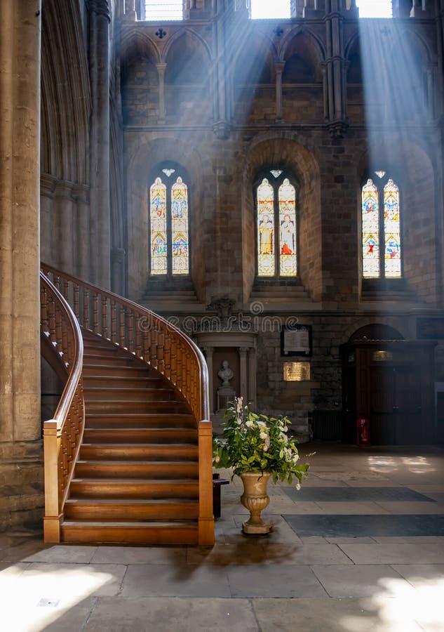 Igreja da catedral de Ripon, Inglaterra, Yorkshire fotos de stock royalty free