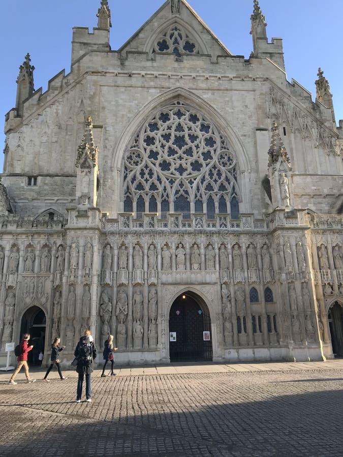Igreja da catedral de St Peter em Exeter, Devon, Reino Unido imagem de stock