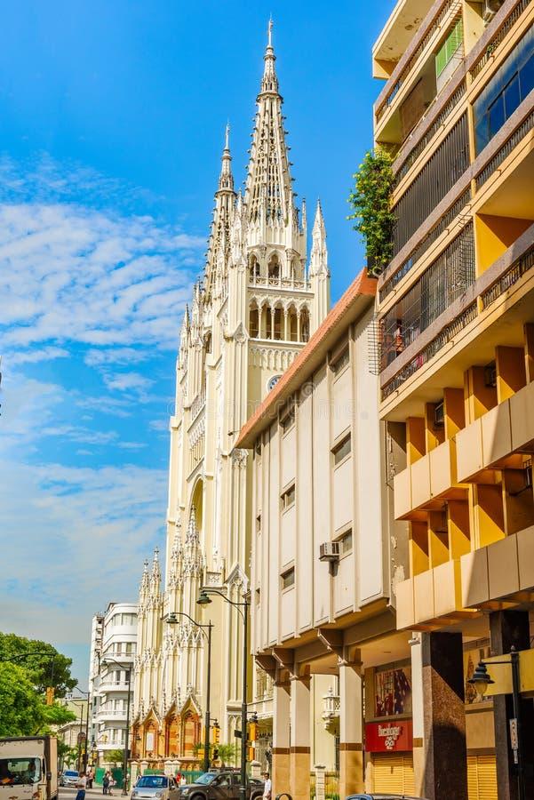 Igreja da catedral em Guayaquil, Equador foto de stock royalty free