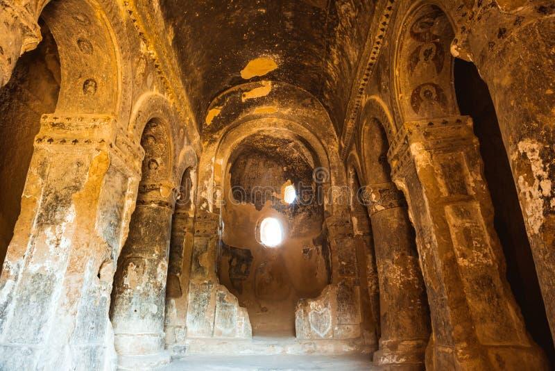 Igreja da caverna em Selime Cappadocia Turquia imagens de stock royalty free