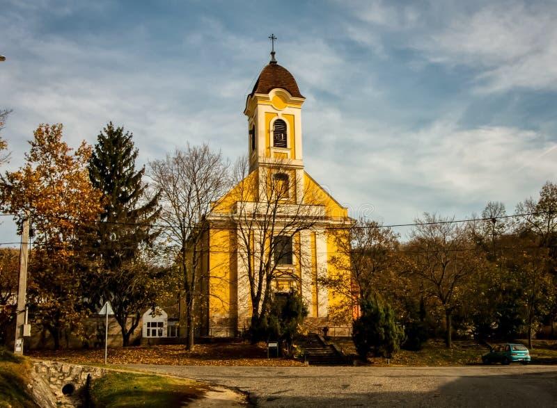 Igreja da cidade do rpéc do ¡ de Hungria Kajà imagem de stock royalty free