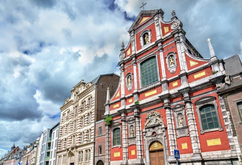 Igreja da concepção imaculada em Liege, Bélgica fotografia de stock royalty free