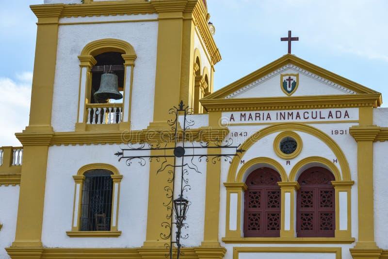 Igreja da concepção imaculada em Mompox, Colômbia fotografia de stock royalty free