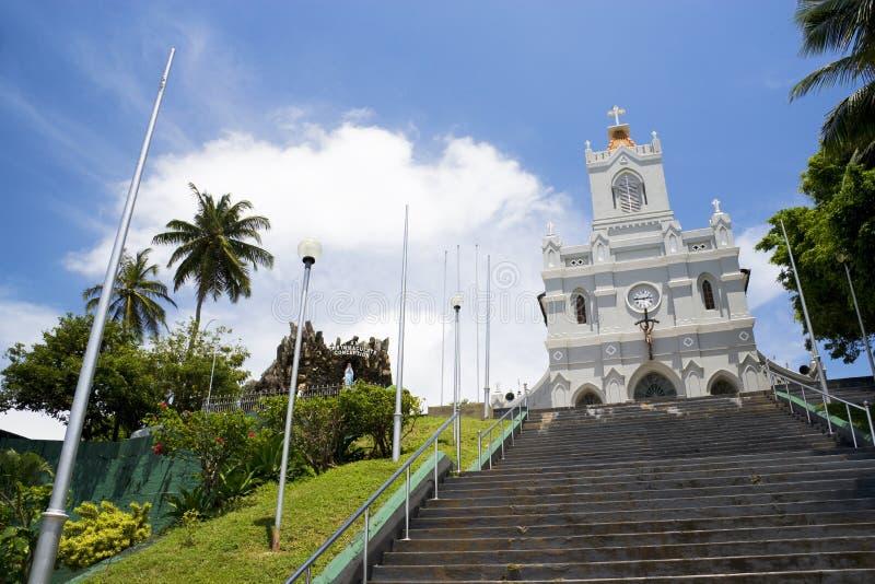 Igreja da concepção imaculada, Sri Lanka imagens de stock royalty free