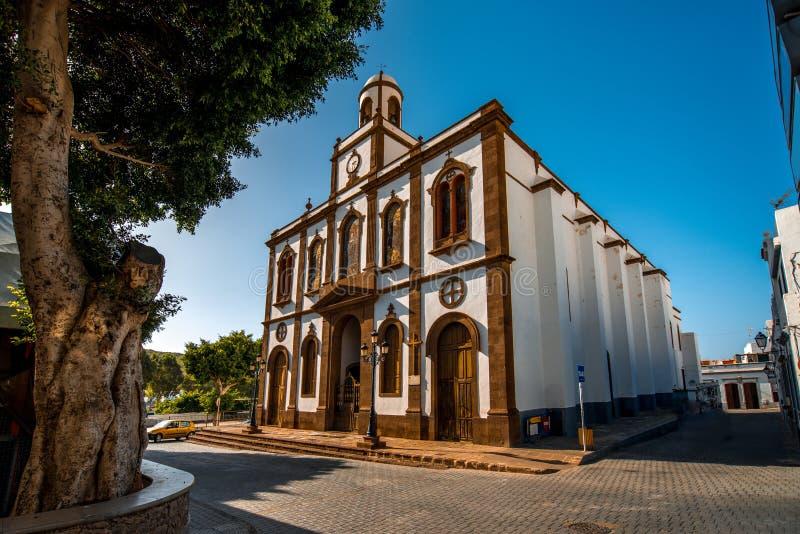 Igreja da Concepción em Agaete fotografia de stock