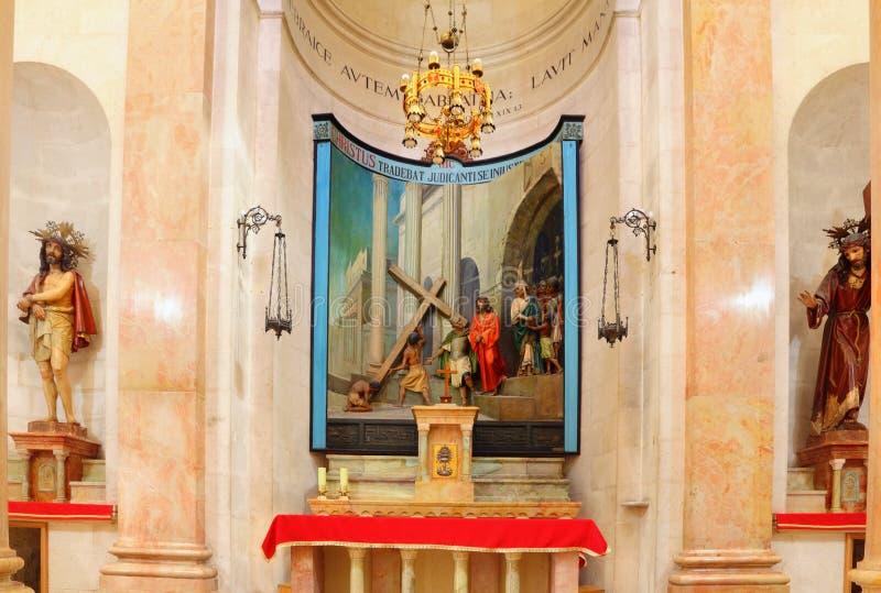 Igreja da condenação e da imposição da cruz fotografia de stock royalty free