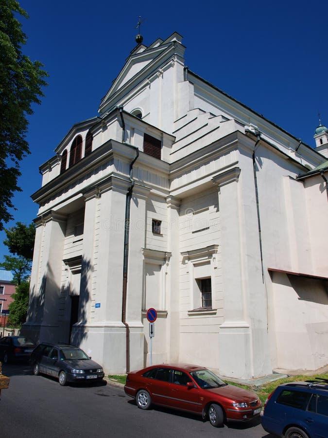A igreja da conversão de St Paul, Lublin, Polônia fotografia de stock