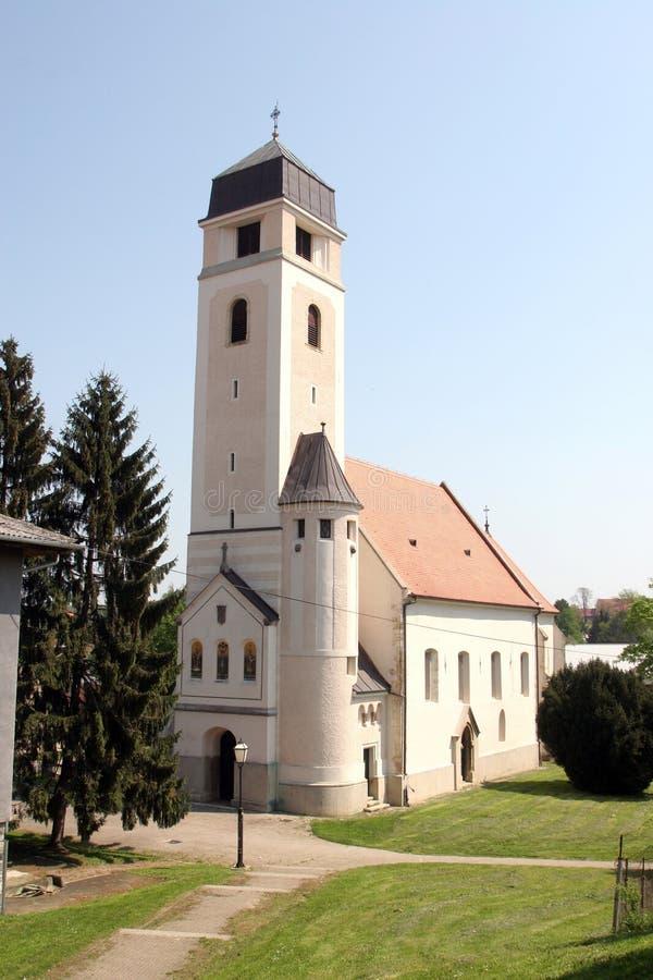 Igreja da cruz santamente, Krizevci fotos de stock