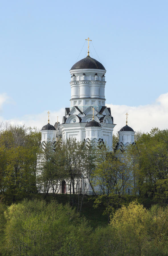 Igreja da decapitação de John The Baptist em Dyakovo, Moscou, Federação Russa foto de stock