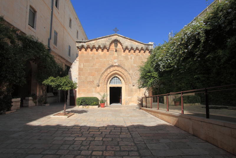 A igreja da flagelação no Jerusalém imagem de stock royalty free