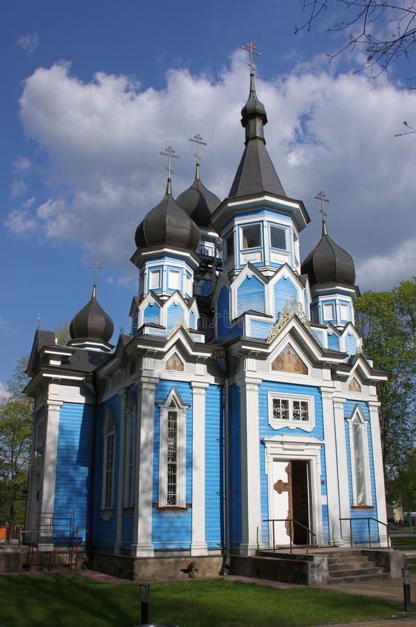 Igreja da mãe do ícone do deus Druskininkai, Lituânia fotografia de stock royalty free