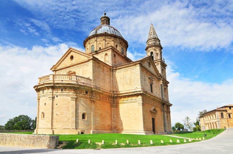 Igreja da Madonna di San Biagio Montepulciano na Toscana, Itália Europa fotografia de stock