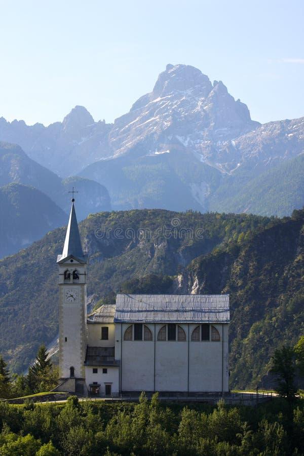 Igreja da montanha imagens de stock