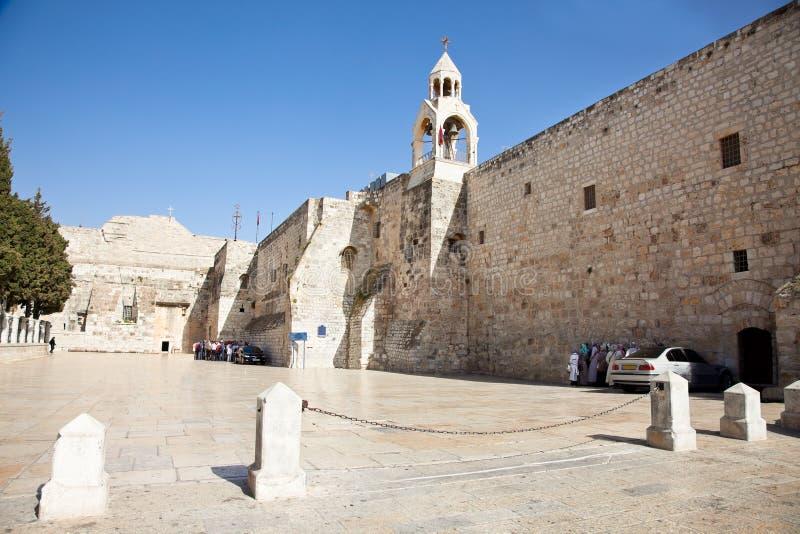 Igreja da natividade, Bethlehem, banco ocidental, Israel foto de stock
