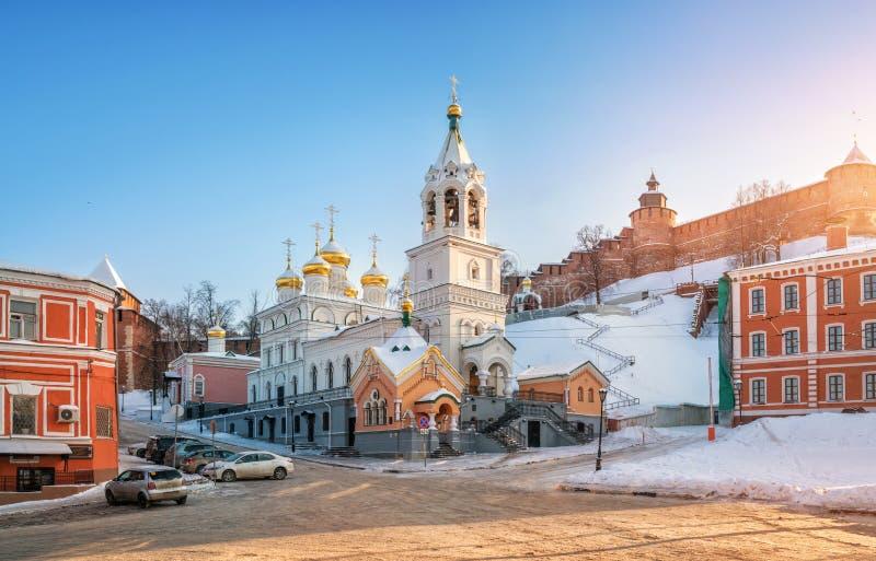 A igreja da natividade de John The Baptist em Nizhny Novgorod fotografia de stock