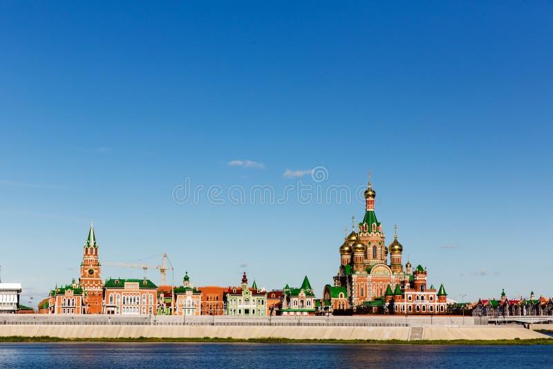 Igreja da natividade do Virgin abençoado no Yoshkar-Ola Rússia imagem de stock royalty free