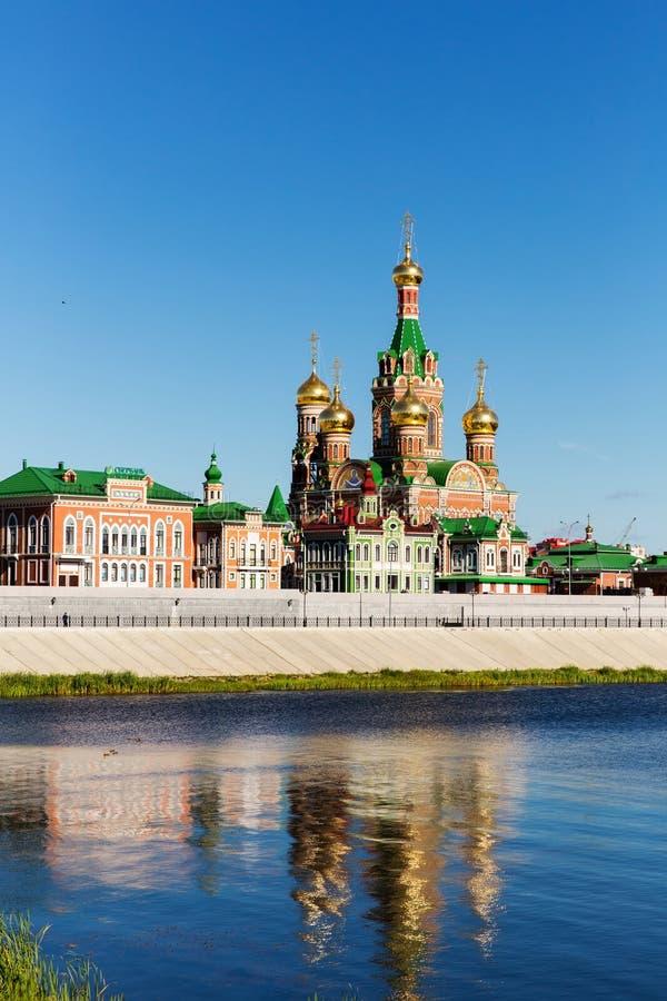 Igreja da natividade do Virgin abençoado no Yoshkar-Ola Rússia fotografia de stock
