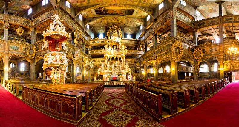 Igreja da paz na cidade de Swidnica, Polônia foto de stock