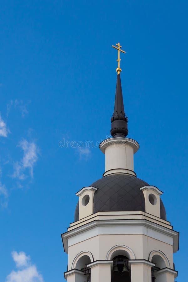 A igreja da proteção da Virgem Santa em Krasnoye Selo Igreja ortodoxa do deado do esmagamento da cidade de Moscou imagem de stock royalty free