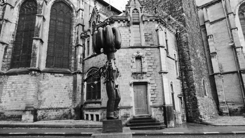 A igreja da renda de Binche, Bélgica fotografia de stock royalty free