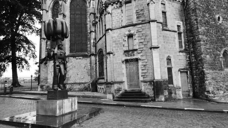 A igreja da renda de Binche, Bélgica fotos de stock royalty free