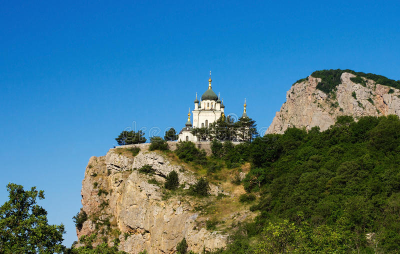 A igreja da ressurreição de Christs em Crimeia fotos de stock