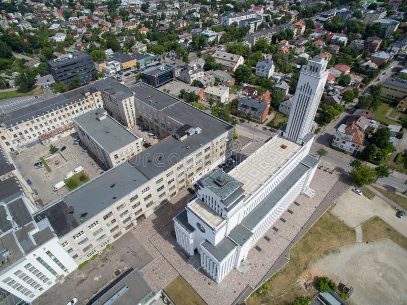 Igreja da ressurreição do ` s de Cristo em Kaunas, Lituânia fotos de stock