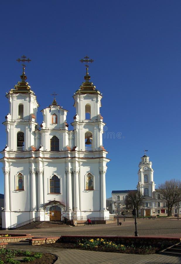 Igreja da ressurreição em Vitebsk, Bielorrússia fotografia de stock