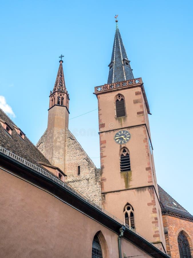 Igreja da São Nicolau em Strasbourg foto de stock