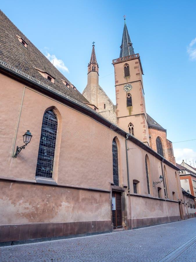 Igreja da São Nicolau em Strasbourg imagens de stock