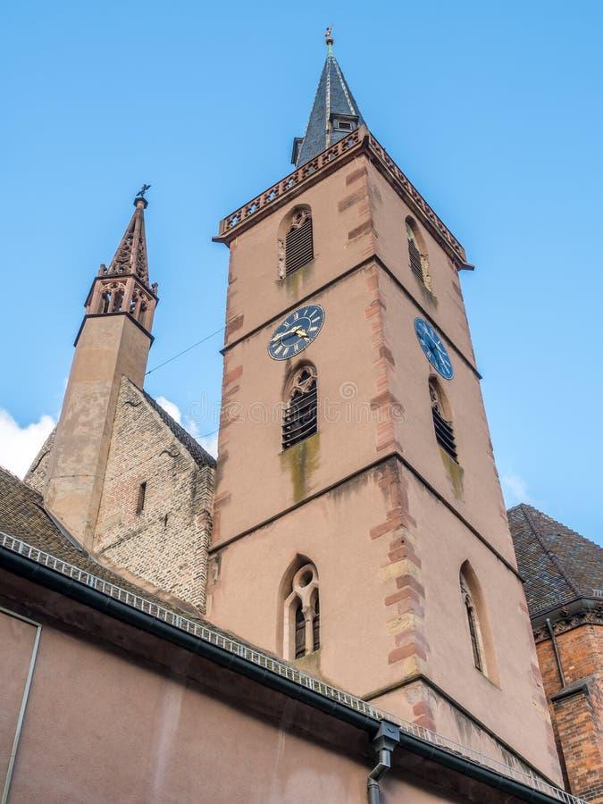 Igreja da São Nicolau em Strasbourg imagem de stock