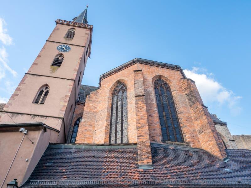 Igreja da São Nicolau em Strasbourg foto de stock royalty free