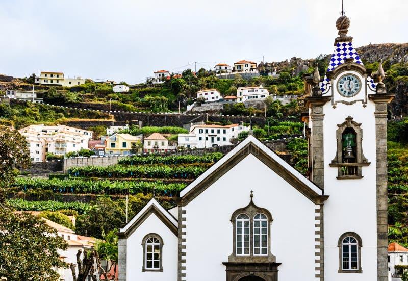 Igreja da senhora de Monte no verão em Funchal, Portugal imagem de stock